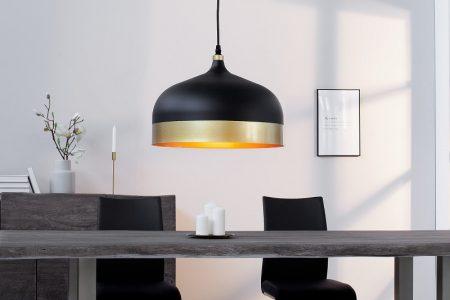 Závesná lampa ModernChic II 33cm čiernozlatá