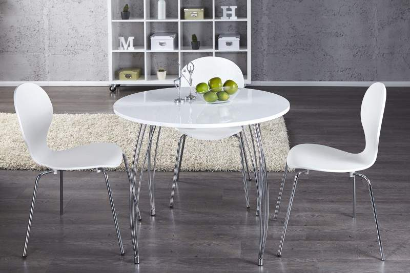 biely jedalensky stol
