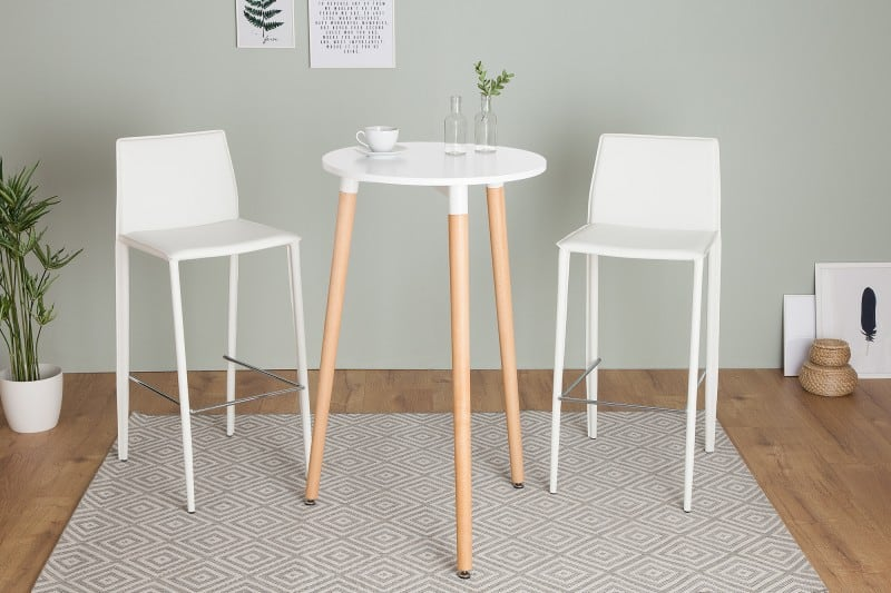biely vysoky jedalensky stol