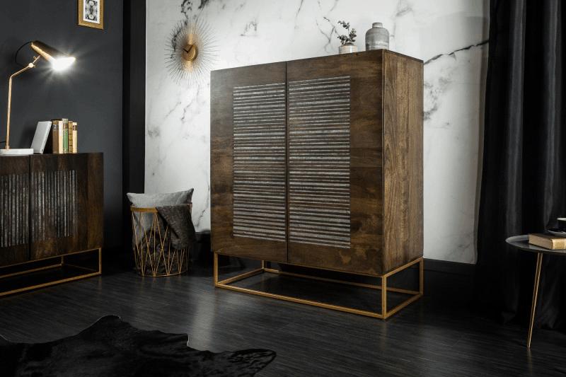 ako zariadiť obývačku drevom