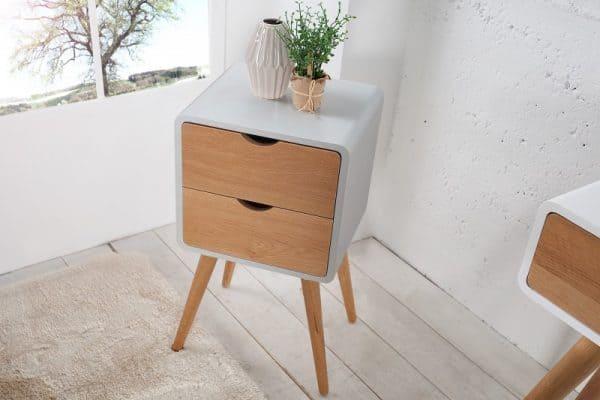 Príručný stolík Scandinavia – sivý