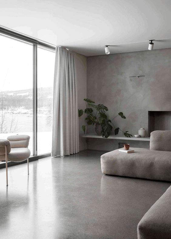 sivá obývačka