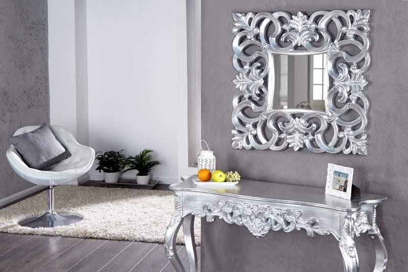 strieborné zrkadlo Venice