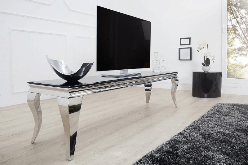 strieborny tv stolik
