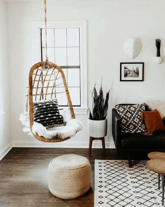 zavesene kreslo