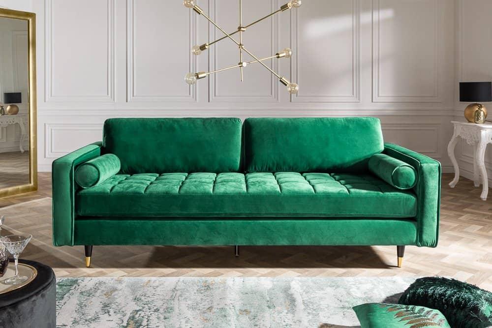 zelená sedačka - farby v interiéri