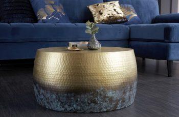 Couchtisch Orient III 60cm gold geflammt