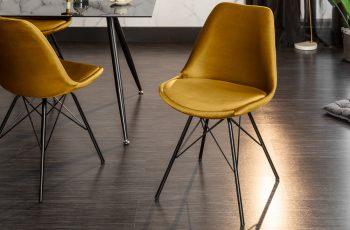 Jedálenská stolička Scandinavia Retro horčicová žltá (2)