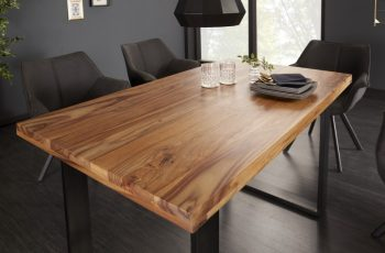 Jedálenský stôl Iron Craft 120cm sheesham 45mm