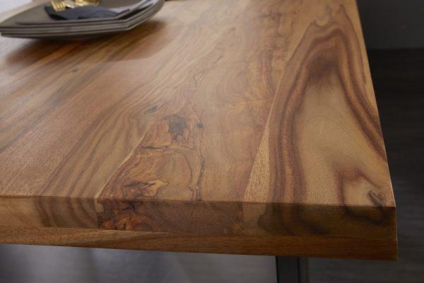 Jedálenský stôl Iron Craft 160cm sheesham 45mm