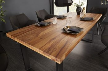 Jedálenský stôl Iron Craft 180cm sheesham 45mm