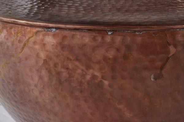 Konferenčný stolík Orient II 60cm meď geflammt