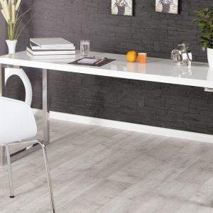 Písací stôl White Desk biela 140x60cm