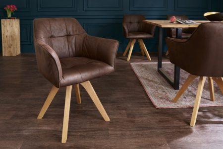 Hnedá stolička Loft