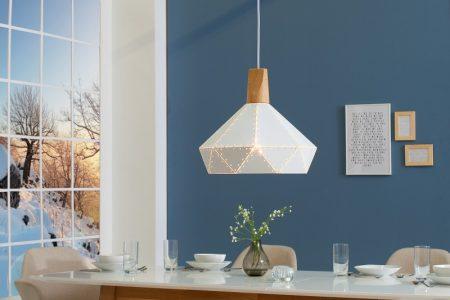 Závesná lampa Scandinavia II biela