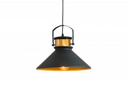 B-Závesná lampa Luz III čiernozlatá- 37700B