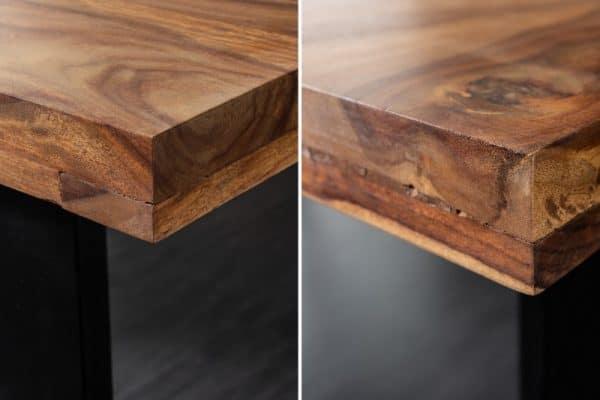 Jedálenský stôl Iron Craft 140cm sheesham 45mm