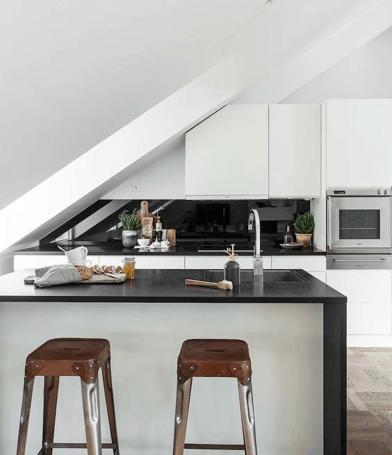 podkrovná kuchyňa