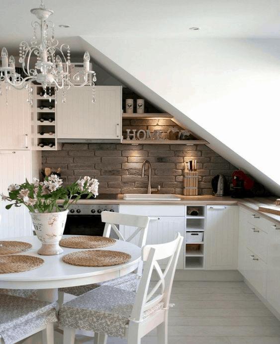 rustikálna podkrovná kuchyňa