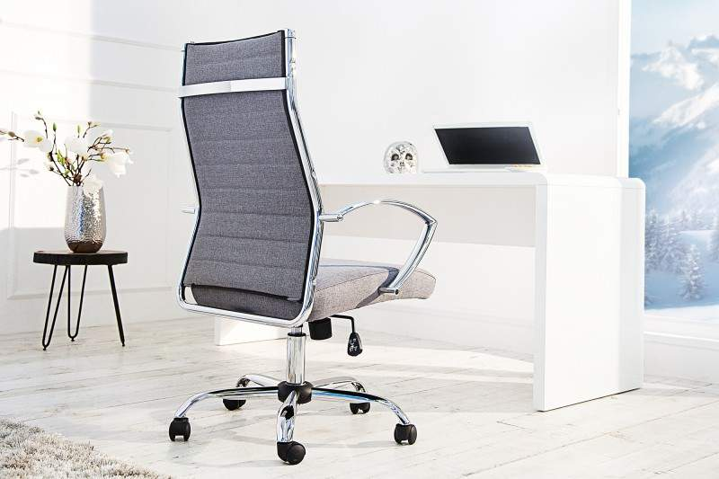 sivá kancelárska stolička Big Deal 2