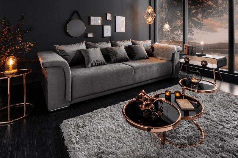 Štýlová obývačka glamour