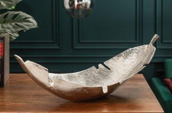 Dekoschale Silver Leaf 62cm strieborná