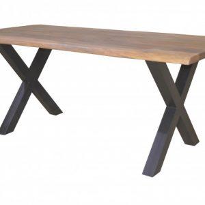 Jedálenský stôl Amazonas X 180cm prírodná sheesham