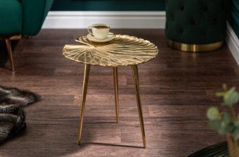 Konferenčný stolík Gold Leaf 40cm zlatá