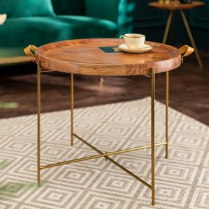 Konferenčný stolík Monsoon 55cm agát zlatá