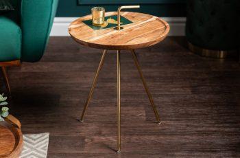Konferenčný stolík SimplyClever 41cm agát zlatá