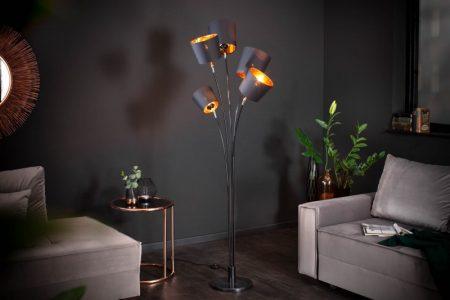 Stojanová lampa Levels 178cm čiernozlatá