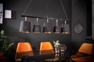 Závesná lampa Levels 100cm čiernozlatá