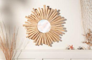 Zrkadlo Riverside 60cm teakové drevo