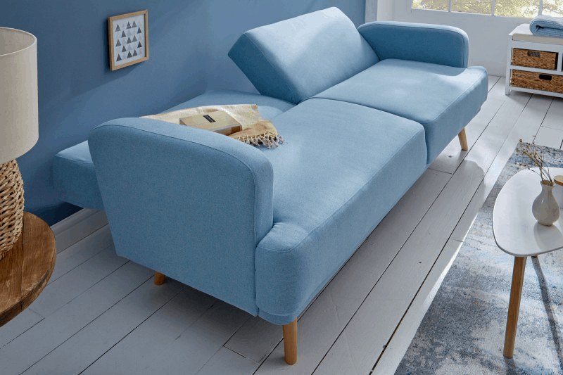 modra rozkladacia sedacka
