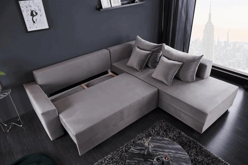 siva rozkladacia sedacka