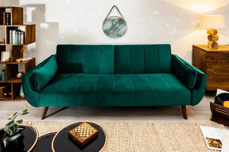 zelená rozkladacia sedacka