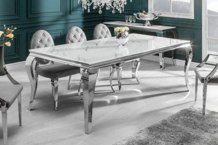 Jedálenský stôl Modern Barock 180cm strieborná mramor