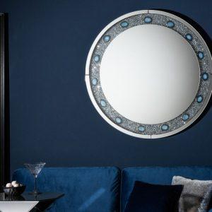 Nástenné zrkadlo Diamonds Achat 100cm rund
