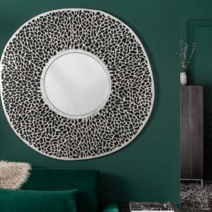 Nástenné zrkadlo Leaf 112cm L strieborná