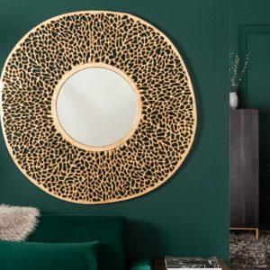 Nástenné zrkadlo Leaf L 112cm zlatá