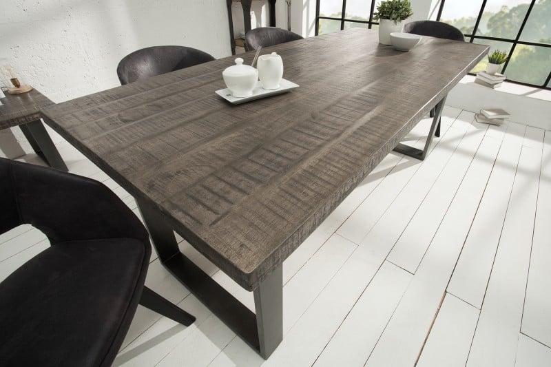 Sivý jedálenský stôl 160cm