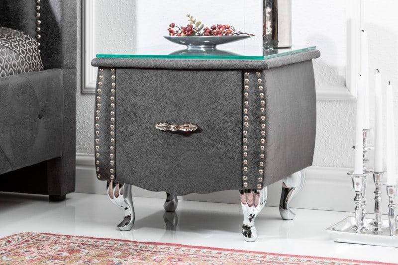 Sivý nočný stolík