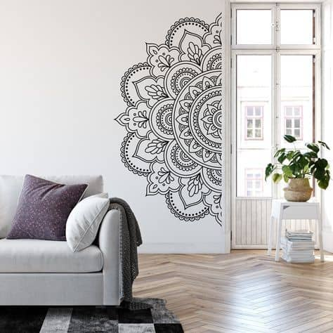 nalepka na stenu mandala