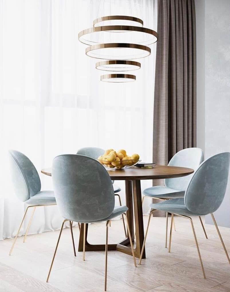 okrúhly moderný stôl