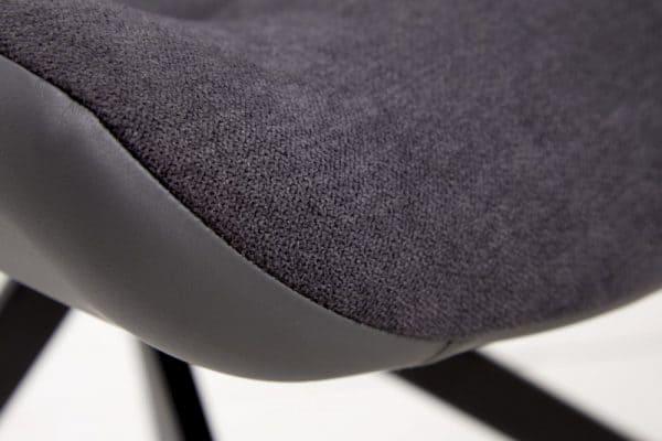 Stolička Divani Retro čierno - sivá