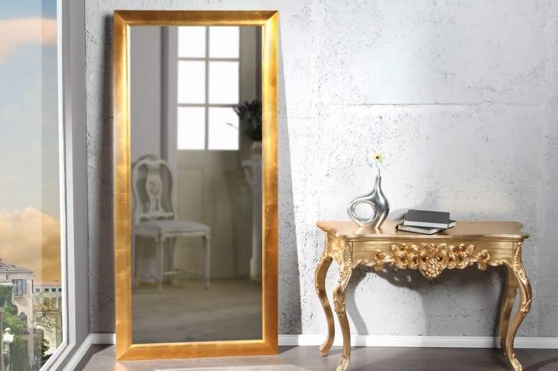 zlate nastenne zrkadlo espejo