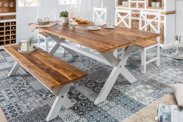 6-- jedálenský stôl vo vidieckom štýle
