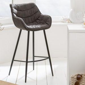 Barová stolička The Dutch Comfort antik sivá
