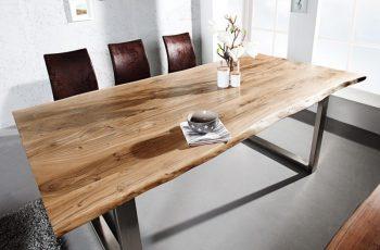 Jedálenský stôl Mammut 160cm agát 35mm HONEY- Platte
