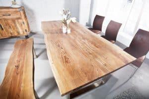 Jedálenský stôl Mammut 180cm agát 35mm NATUR- Platte